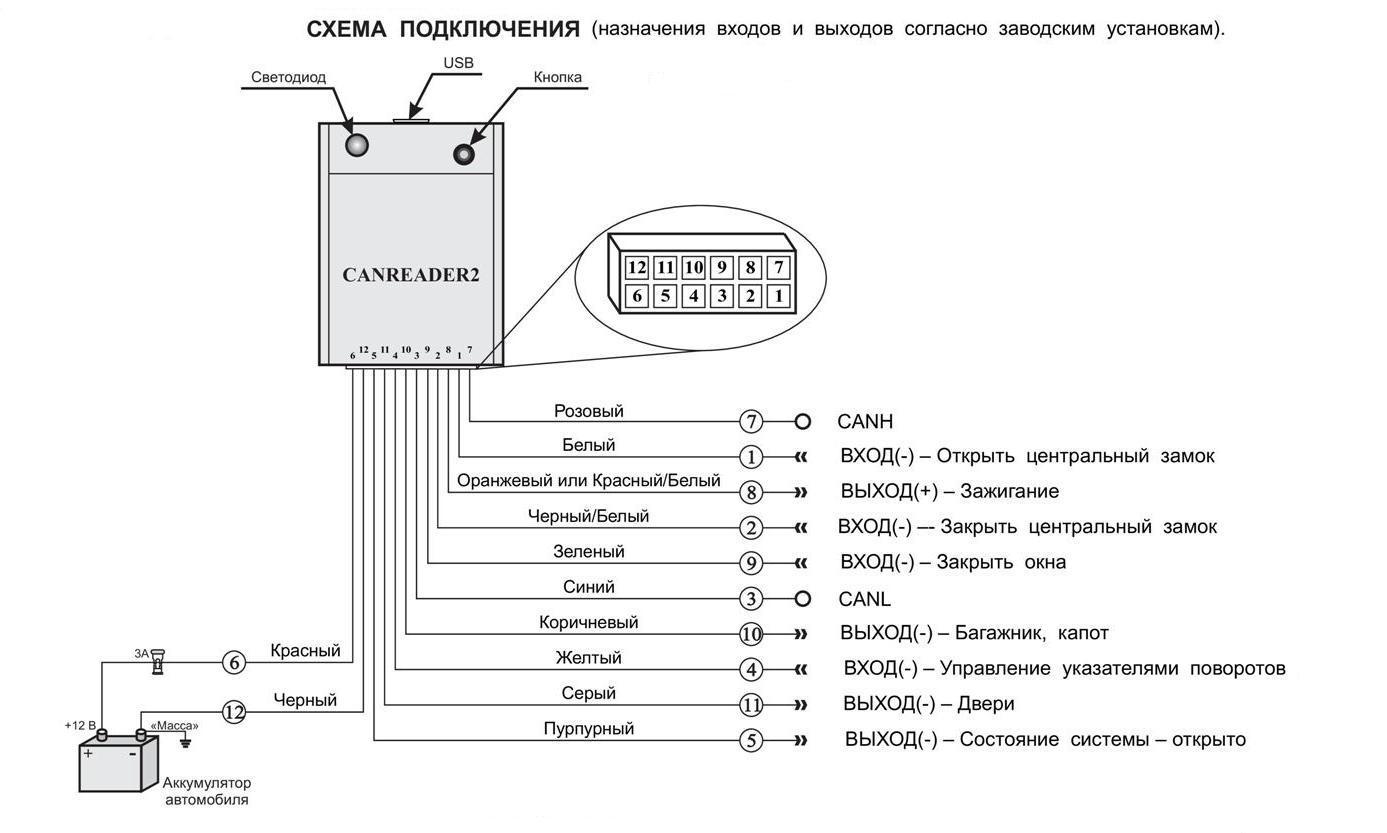 a.p.s. схема подключения центральных замков
