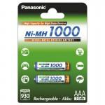 Аккумулятор Panasonic High Capacity AAA 1000 mAh 2BP NI-MH 1000BK-4HGAE/2BE